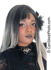 Portrait of beautiful African woman.