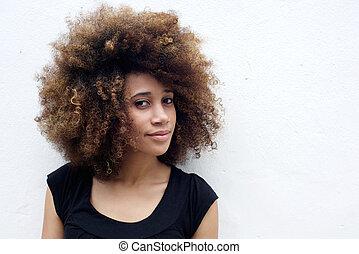 Portrait of beautiful african woman