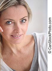 Portrait of beautiful blond woman