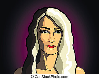 portrait of beautiful blonde girl fashion