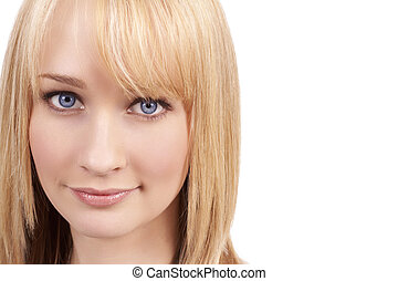 Portrait of beautiful blonde woman - Portrait of a beautiful...