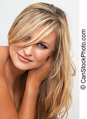 Portrait of beautiful blonde woman - Portrait of a beautiful...