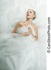 Portrait of beautiful bride