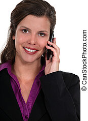 portrait of beautiful businesswoman on the phone
