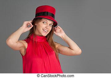 Portrait Of beautiful fashion woman
