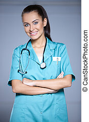 Portrait of beautiful female doctor