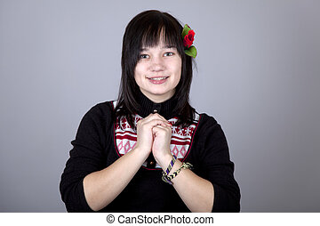 Portrait of beautiful girl.