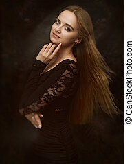 Beautiful girl with beauty long hair