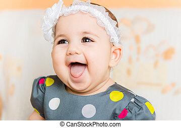 Portrait of beautiful happy baby