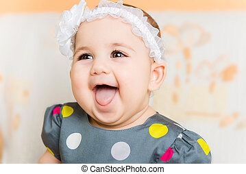 Portrait of beautiful happy baby