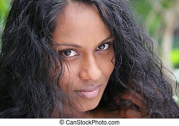 portrait of beautiful Indian woman