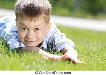 Portrait of beautiful little boy