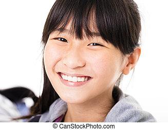 Portrait of  beautiful little girl  smiling