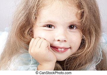 Portrait of beautiful little girl.
