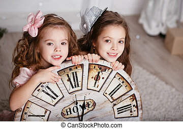 Portrait of Beautiful little girls
