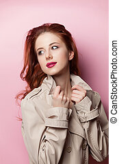 Portrait of beautiful redhead girl