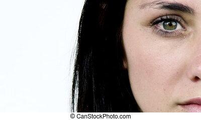 Portrait of beautiful sad woman