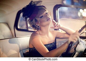 Portrait of beautiful sexy fashion