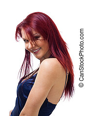 Portrait of beautiful with red hair