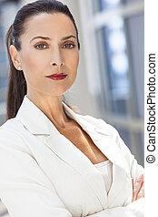 Portrait of Beautiful Woman or Businesswoman