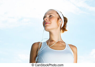 Portrait of Beautiful Woman ready to start workout