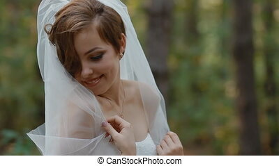 Portrait of beautiful young bride