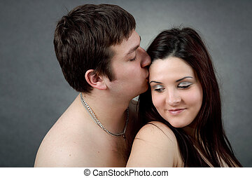 portrait of beautiful young couple