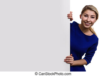 portrait of beautiful young girl. Isolated