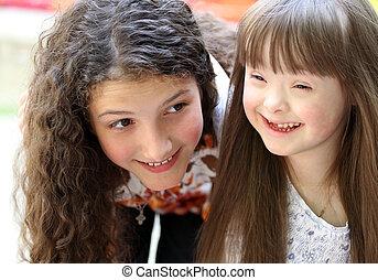 Portrait of beautiful young girls