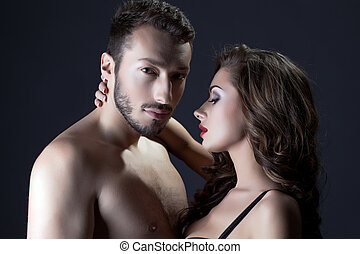 Portrait of beautiful young lovers
