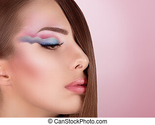 young woman with makeup