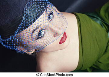 Portrait of beautiful young women in veils