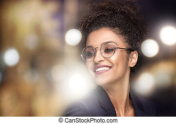 Portrait of beauty girl with afro hair.
