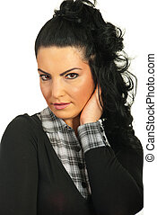 Portrait of beauty woman face