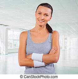 portrait of beautyful sportswoman