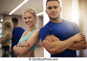 Portrait of best personal trainers