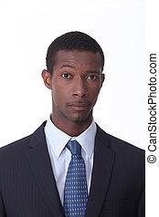 Portrait of black man