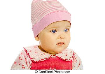 Portrait of blue-eyed baby