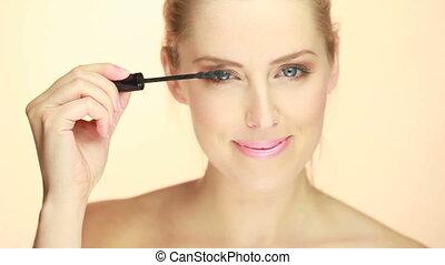 Portrait Of Blue-eyed Blonde Woman