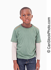 Portrait of boy posing