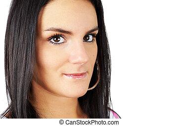 Portrait of brunette beauty