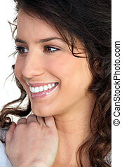 Portrait of brunette