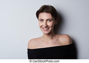 Portrait of brunette woman