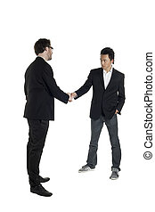 business partners making hand shake