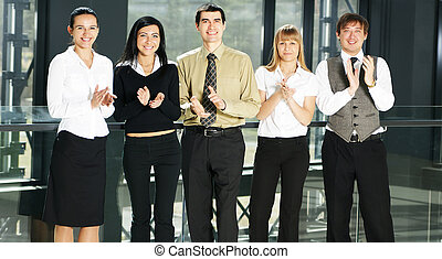 Portrait of business people in offi
