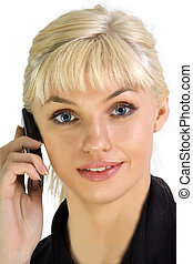 Portrait of business woman with phone