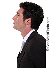 portrait of businessman in profile