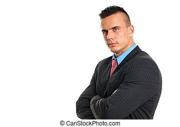 Portrait of businessman in suit