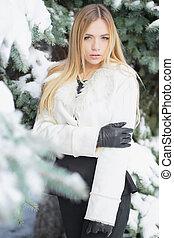 Portrait of charming blonde