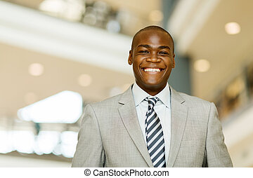 cheerful african business man